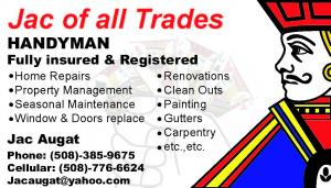 Jac of all Trades Business card
